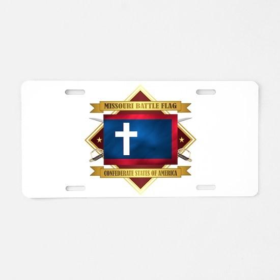Missouri Battle Flag Aluminum License Plate