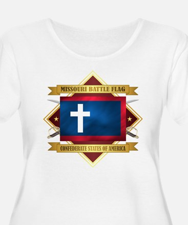 Missouri Battle Flag Plus Size T-Shirt