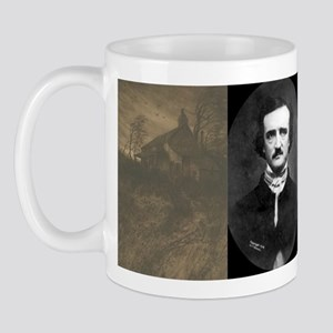 Edgar Allan Poe Collage Mug