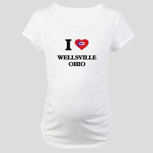 I love Wellsville Ohio Maternity T-Shirt