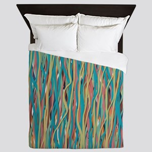 Painterly Silly String Queen Duvet