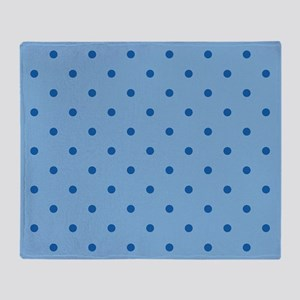 Dots: Dazzling Blue on Placid Blue Throw Blanket