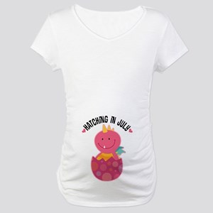 Hatching In July Baby Girl Maternity T-Shirt