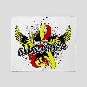 Hepatitis C Awareness 16 Throw Blanket