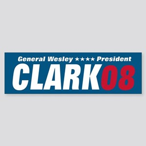 WESLEY CLARK PRESIDENT 08 Bumper Sticker