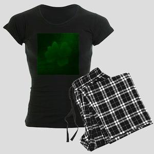 with a small brush shiny gre Women's Dark Pajamas