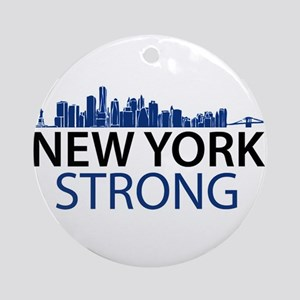 New York Strong - Skyline Ornament (Round)