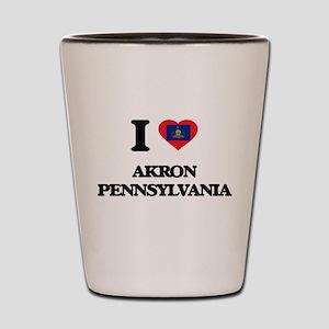 I love Akron Pennsylvania Shot Glass
