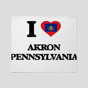 I love Akron Pennsylvania Throw Blanket