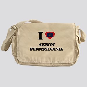 I love Akron Pennsylvania Messenger Bag