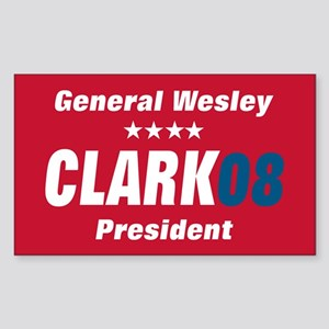 WESLEY CLARK PRESIDENT 08 Rectangle Sticker