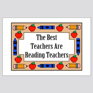 The Best Teachers Are Reading Teachers Large Poste