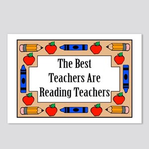 The Best Teachers Are Reading Teachers Postcards (