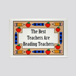 The Best Teachers Are Reading Teachers Rectangle M