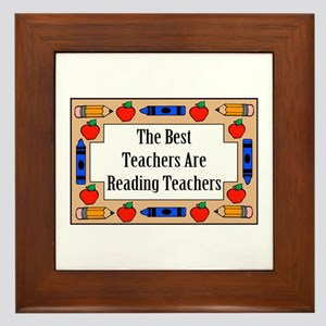 The Best Teachers Are Reading Teachers Framed Tile