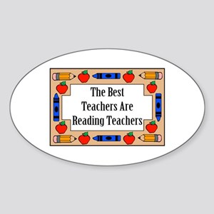 The Best Teachers Are Reading Teachers Sticker (Ov