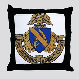 USS JOSEPHUS DANIELS Throw Pillow