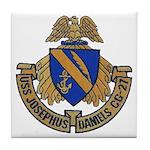 USS JOSEPHUS DANIELS Tile Coaster