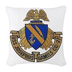 USS JOSEPHUS DANIELS Woven Throw Pillow