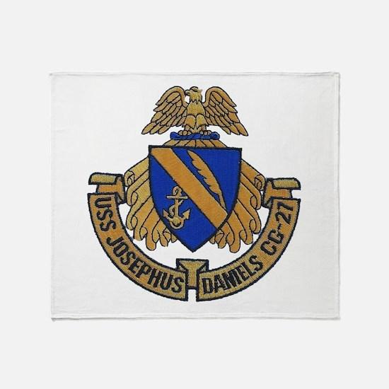 USS JOSEPHUS DANIELS Throw Blanket