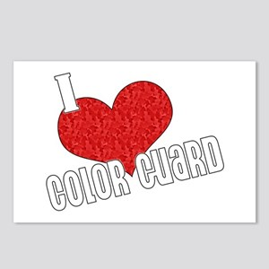 I Love Color Guard Postcards (Package of 8)