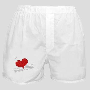 I Love Color Guard Boxer Shorts