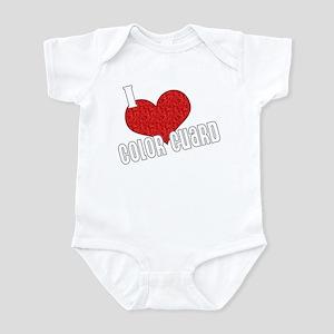 I Love Color Guard Infant Bodysuit