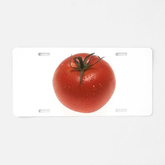 Fresh Tomato Aluminum License Plate