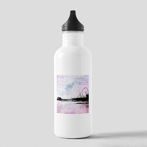Santa Monica Pier Pink Stainless Water Bottle 1.0L