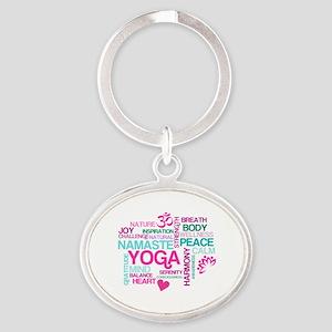 Yoga Inspirations Oval Keychain