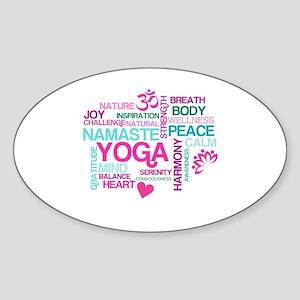 Yoga Inspirations Sticker (Oval)