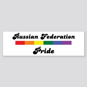 Russian Federation pride Bumper Sticker