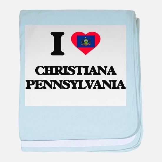 I love Christiana Pennsylvania baby blanket