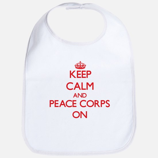 Keep Calm and Peace Corps ON Bib