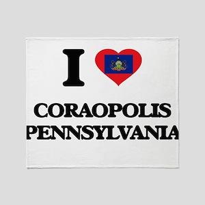 I love Coraopolis Pennsylvania Throw Blanket
