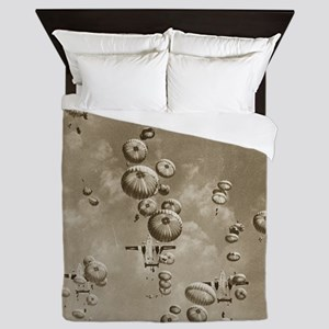 Vintage Airborne Drop Queen Duvet