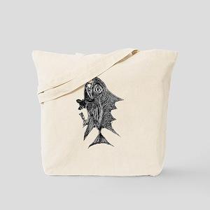 Chrome Retro Tuna Toothy R. Fish Retro Tu Tote Bag