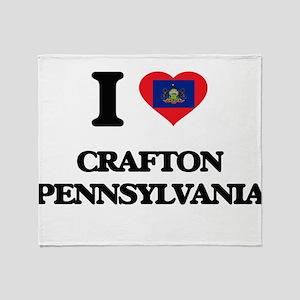I love Crafton Pennsylvania Throw Blanket