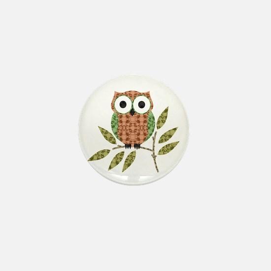 Unique Owl Mini Button (10 pack)