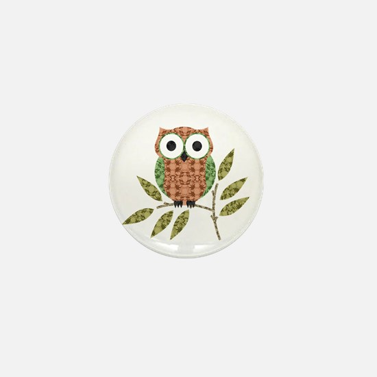 Cute Owl Mini Button