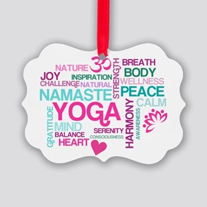 Yoga Inspirations Picture Ornament