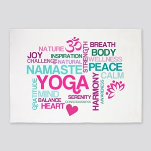 Yoga Inspirations 5'x7'Area Rug