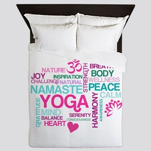 Yoga Inspirations Queen Duvet