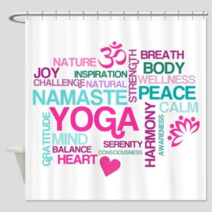 Yoga Inspirations Shower Curtain