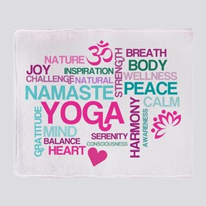 Yoga Inspirations Throw Blanket