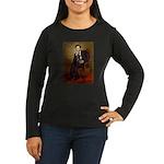 Lincoln-Black Pug Women's Long Sleeve Dark T-Shirt