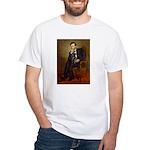 Lincoln-Black Pug White T-Shirt