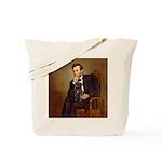 Lincoln-Black Pug Tote Bag