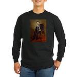 Lincoln-Black Pug Long Sleeve Dark T-Shirt