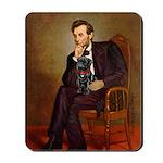 Lincoln-Black Pug Mousepad
